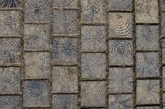 Drewnianego bloku podłoga Obrazy Royalty Free