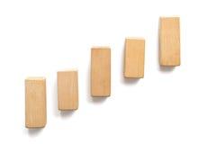 Drewnianego bloku sztaplowanie jako kroka schodek Obrazy Royalty Free