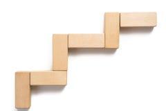 Drewnianego bloku sztaplowanie jako kroka schodek Zdjęcie Stock