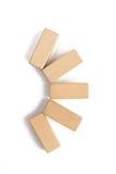 Drewnianego bloku sztaplowanie jako kroka schodek Obraz Stock
