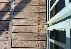Drewnianego mosta sposób zdjęcie stock