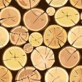 drewnianego notuje Brown barkentyna powalać suchy drewno ilustracji