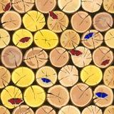 drewnianego notuje Brown barkentyna powalać suchy drewno royalty ilustracja