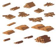 drewnianego notuje Brown barkentyna powalać suchy drewno Zakup dla budowy również zwrócić corel ilustracji wektora Set drewniane  ilustracja wektor