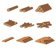 drewnianego notuje Brown barkentyna powalać suchy drewno Zakup dla budowy również zwrócić corel ilustracji wektora Set drewniane  ilustracji
