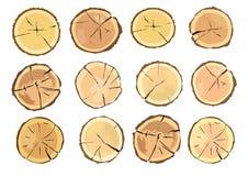 drewnianego notuje Brown barkentyna powala? suchy drewno ilustracji