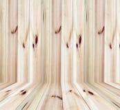 Drewnianego panelu ścienny i podłogowy wewnętrzny pokój Obraz Royalty Free