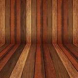Drewnianego panelu ścienny i podłogowy wewnętrzny tło Obrazy Stock
