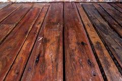 Drewnianego panelu tekstury perspektywy pusty podłogowy tło Zdjęcia Stock