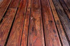 Drewnianego panelu tekstury perspektywy pusty podłogowy tło Obrazy Stock
