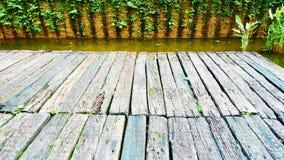 Drewnianego pokładu drewniana deska Obrazy Stock