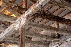 Drewnianego poparcia struktura w g?r? zdjęcia royalty free
