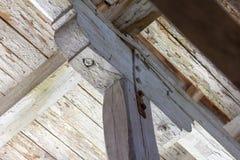 Drewnianego poparcia struktura w g?r? obraz stock