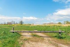 Drewnianego promienia bloków dostęp rezerwat przyrody obraz stock