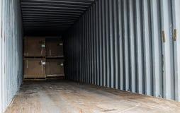 Drewnianego pudełka eksporta barłogu kontener Zdjęcie Royalty Free