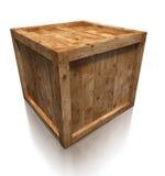 Drewnianego pudełka skrzynka Zdjęcia Royalty Free