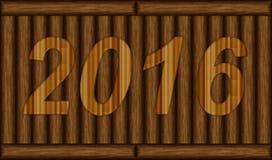 Drewnianego zbożowego tekstury tła szczęśliwy nowy rok 2016 Zdjęcie Royalty Free