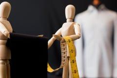 Drewnianej atrapy ubraniowa tkanina obraz royalty free