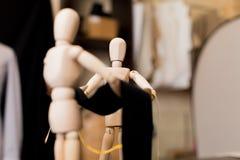 Drewnianej atrapy ubraniowa tkanina zdjęcie stock