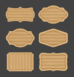 Drewnianej deski etykietki sztandaru projekt Obraz Stock