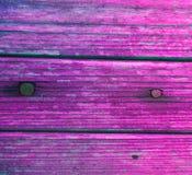 Drewnianej deski farby purpur gwoździe Obraz Stock
