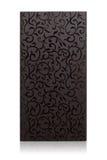 Drewnianej ramy gabinetowy drzwi odizolowywający na bielu Obraz Stock