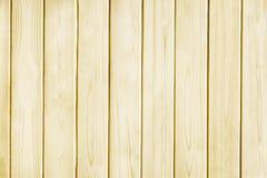 Drewnianej sosnowej deski tekstury żółty tło Fotografia Royalty Free