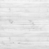 Drewnianej sosnowej deski biała tekstura dla tła Fotografia Stock