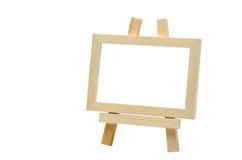 Drewnianej sztalugi mini blackboard, ścinek ścieżka Zdjęcia Royalty Free