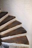 drewniani ślimakowaci schodki Obrazy Royalty Free