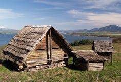 drewniani antyczni domy Obrazy Royalty Free