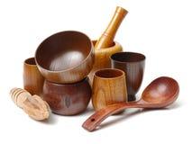 Drewniani artykuły, ï ¼ ˆWood tablewareï ¼ ‰ fotografia stock