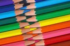 drewniani barwioni bezpłatni ołówki Obraz Stock
