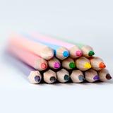 Drewniani Barwioni ołówki Zdjęcia Royalty Free