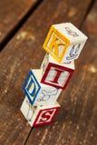 Drewniani bloki Zdjęcia Stock