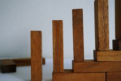 Drewniani bloki Obraz Royalty Free