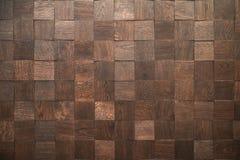 Drewniani bloki bezszwowy tło ścienna płytka - Ciągły replikacja - Dekoracyjny kasetonuje wzór - Świetna naturalna struktura - Obrazy Stock