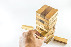Drewniani bloki gemowi Zdjęcie Royalty Free