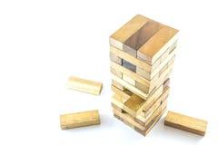 Drewniani bloki gemowi Obrazy Royalty Free