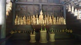Drewniani Buddha wizerunki Fotografia Stock