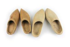 Drewniani buty - chodaki, dwa pary Obraz Royalty Free