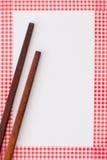 Drewniani chopsticks zdjęcia stock