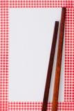 Drewniani chopsticks zdjęcie stock