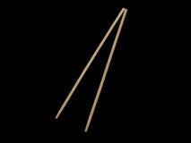Drewniani chopsticks na czerni Obraz Stock