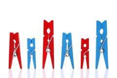 Drewniani clothespins Zdjęcie Stock