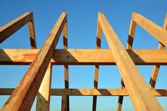 Drewniani dach ramy flisacy zdjęcia stock