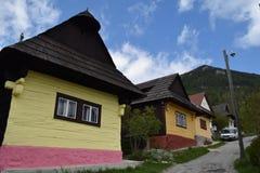 Drewniani domy w Vlkolinec, UNESCO w Sistani Fotografia Stock