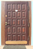 Drewniani drzwi. Zdjęcie Stock