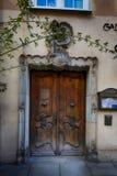 Drewniani drzwi stary miasteczko Fotografia Royalty Free