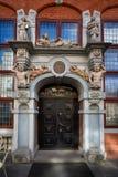 Drewniani drzwi stary miasteczko Zdjęcie Stock